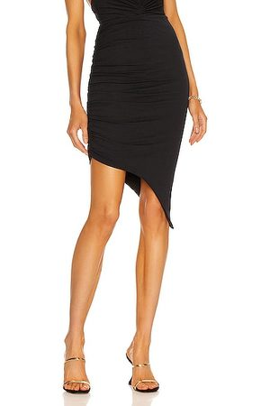 Alexandre Vauthier Ruched Pencil Skirt in Navy