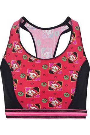 ETRO Woman Paneled Printed Stretch Sports Bra Fuchsia Size 38