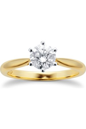 GOLDSMITHS 18ct Yellow Gold 0.70ct Diamond Solitaire Ring - Ring Size I