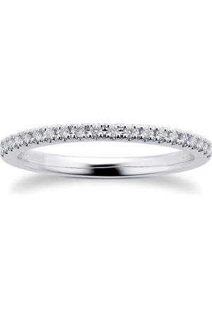 GOLDSMITHS Women Rings - Platinum 0.10cttw Diamond Eternity Ring - Ring Size I