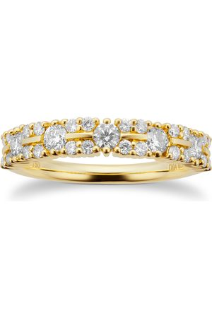 GOLDSMITHS 18ct Yellow Gold 0.75ct Multi Row Eternity Ring - Ring Size I
