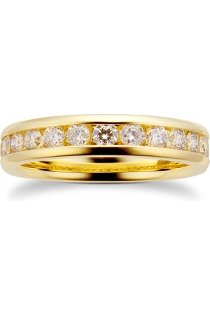 GOLDSMITHS Women Rings - 18ct Yellow Gold 0.80cttw Diamond Channel Set Ring - Ring Size I