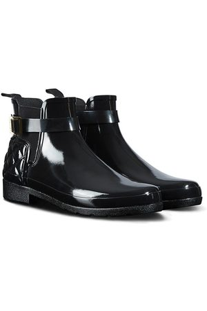 Hunter Refined Gloss Quilt Chelsea Welly Boot