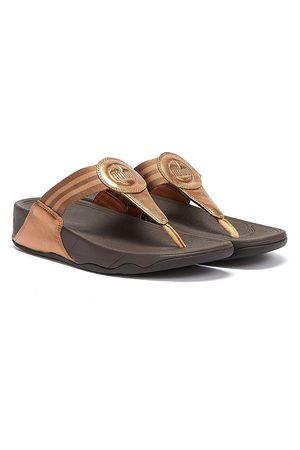 FitFlop Women Flip Flops - Walkstar Webbing Womens Bronze Flip Flops