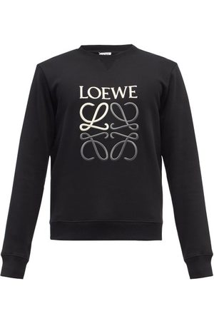 Loewe Anagram-embroidered Cotton-jersey Sweatshirt - Mens