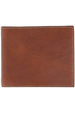 Brunello Cucinelli Logo-debossed Grained-leather Bi-fold Wallet - Mens