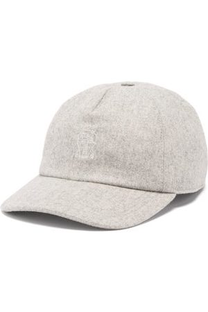 Brunello Cucinelli Crest-embroidered Wool Baseball Cap - Mens