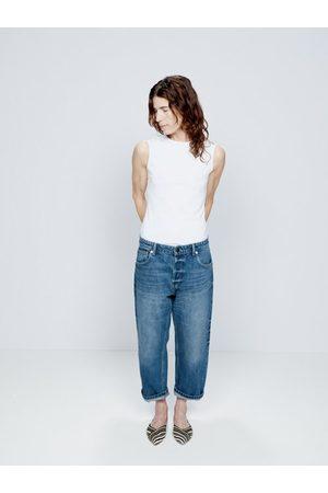 Raey Women Boyfriend - Dad Organic-cotton Baggy Boyfriend Jeans - Womens - Dark