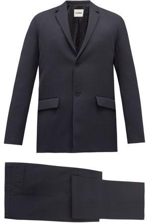 Jil Sander Essential Wool-gabardine Suit - Mens - Navy