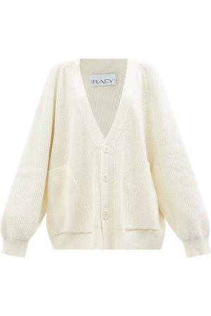 Raey Recycled Wool-blend Pocket Front Cardigan - Womens - Ivory