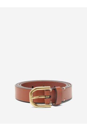 Raey Slim Bridle-leather Belt - Mens - Tan