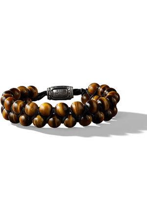 David Yurman 8mm Spiritual Beads two-row tiger eye bracelet
