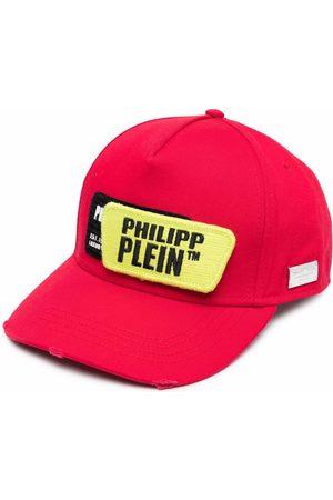 Philipp Plein Hats - Logo-patch cotton cap
