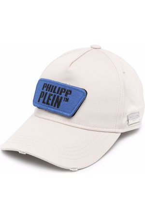 Philipp Plein Hats - Distressed logo patch cap - Neutrals