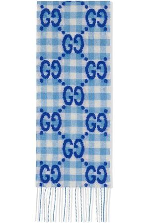 Gucci Interlocking G check wool scarf