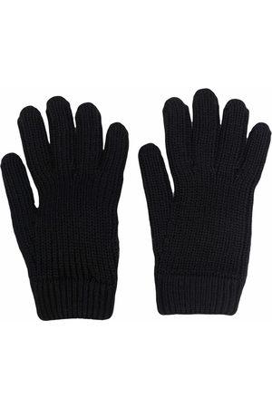 Prada Logo-pocket knitted gloves