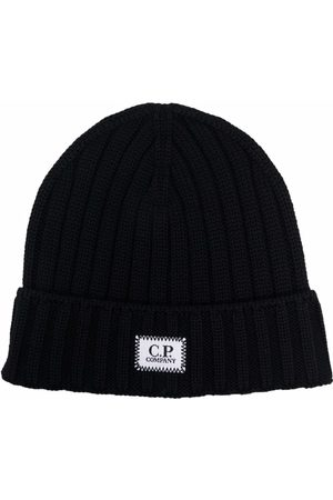 C.P. Company Logo-patch knit beanie