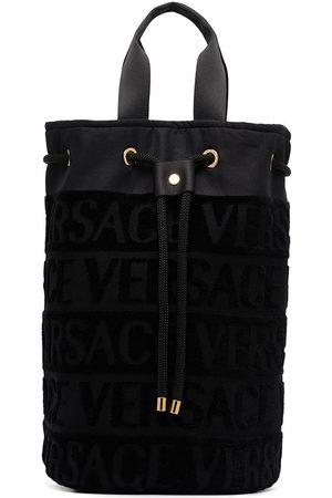 Versace Women Handbags - Logo pattern drawstring beach bag