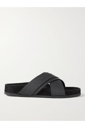 Tom Ford Men Sandals - Wicklow Leather and Suede Sandals