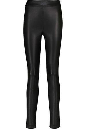 Helmut Lang High-rise leather leggings