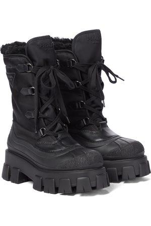 Prada Monolith nylon ankle boots