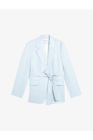 Claudie Pierlot Victorieuse belted single-breasted woven blazer