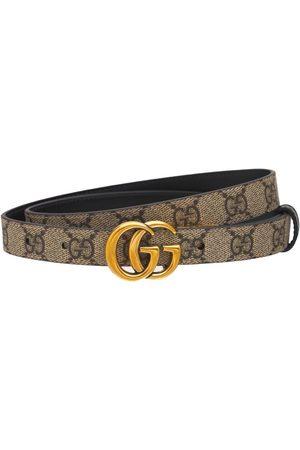 Gucci Women Belts - Gg Marmont Reversible Thin Leather Belt