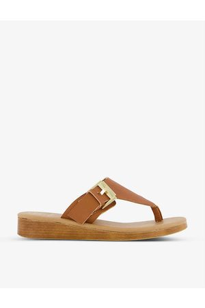 Dune Laines buckle-embellished leather sandals