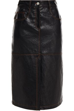 Msgm Woman Faux Textured-leather Skirt Size 38