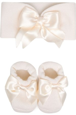La Perla Kids Boys Bow Ties - Bow-detail knitted set - Neutrals