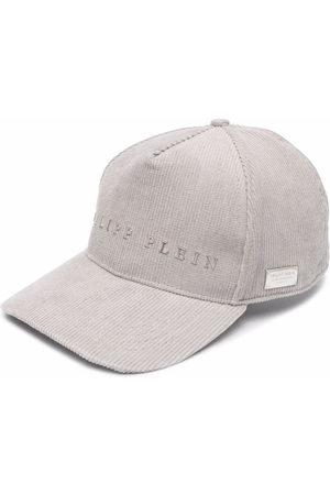 Philipp Plein Hats - Slogan-patch corduroy cap