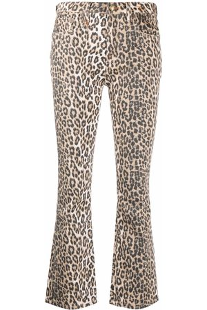 R13 Mid-rise flared jeans - Neutrals