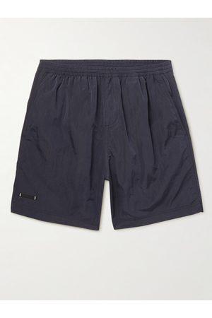 TRUE TRIBE Men Swim Shorts - Neat Steve Mid-Length Iridescent Checked ECONYL Swim Shorts