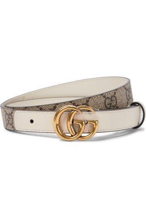 Gucci GG Supreme leather belt in