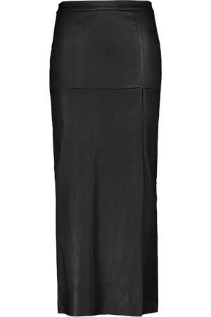 Stouls Trinity leather midi skirt