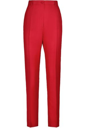 Dolce & Gabbana Silk and cotton-blend pleated pants