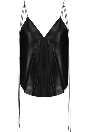 PETAR PETROV Women Tank Tops - Colby leather top