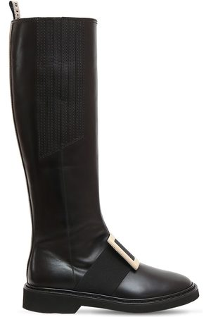Roger Vivier 30mm Viv Rangers Leather Tall Boots