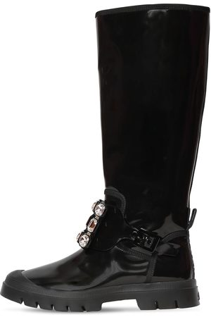 Roger Vivier 30mm Walkyviv Patent Leather Tall Boots