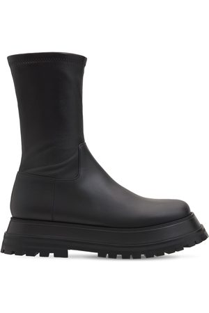 Burberry 50mm Hurr Sock Leather Boots