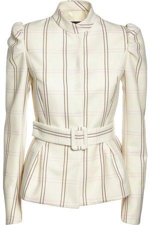 Rochas Silk & Wool Check Jacket
