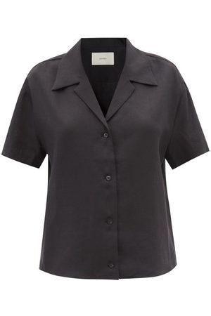 ASCENO Women Short sleeves - Prague Short-sleeved Organic-linen Shirt - Womens