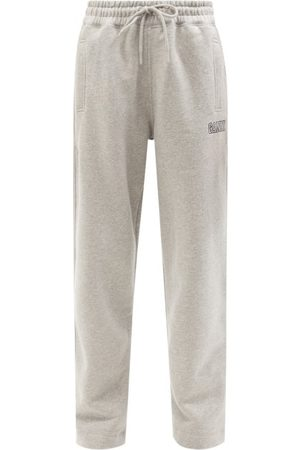 Ganni Software Recycled Cotton-blend Track Pants - Womens