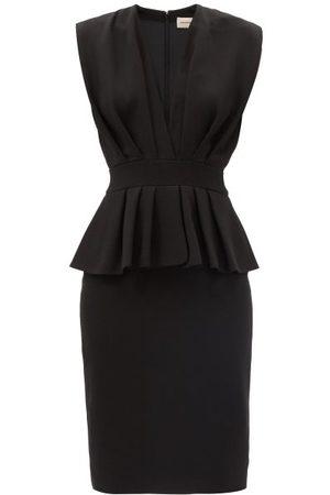 ALEXANDRE VAUTHIER Peplum-waist Crepe Midi Dress - Womens