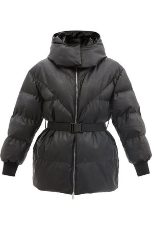 Stella McCartney Kayla Hooded Quilted Faux Leather Jacket - Womens