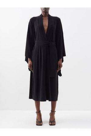Norma Kamali Belted Jersey Wrap Dress - Womens