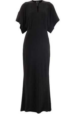 Norma Kamali Obie Cape-sleeve Jersey Maxi Dress - Womens