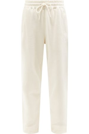 Ganni Software Recycled Cotton-blend Track Pants - Womens - Ivory