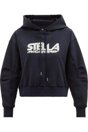 Stella McCartney Logo-print Neoprene Hooded Sweatshirt - Womens - Navy