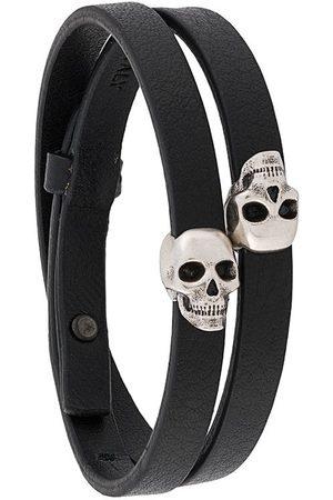 NORTHSKULL Men Bracelets - Atticus skull double-wrap bracelet